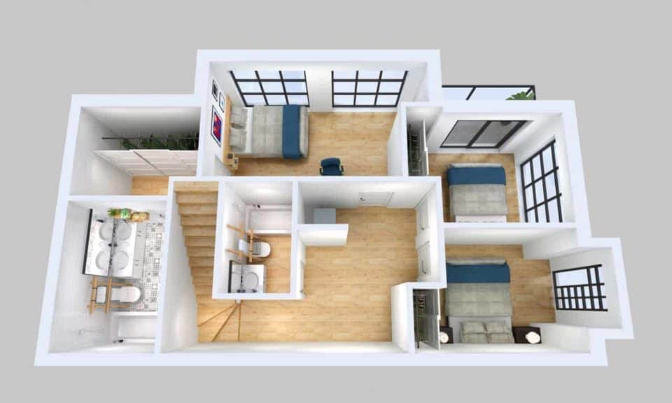 3 bedroom floorplan elevate condos toronto