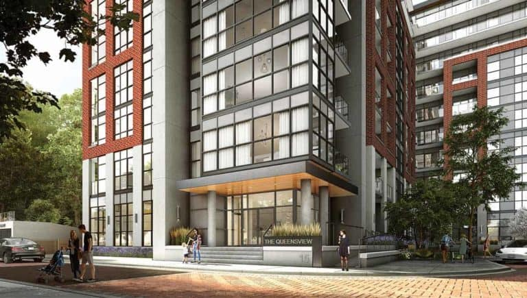 Backyard Condos Queensview Entrance