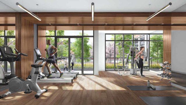 Backyard Condos Queensview Gym