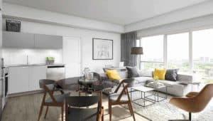 Backyard Condos Queensview Living Room
