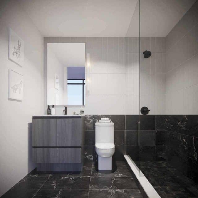 bathroom suite interior the maverick condos in toronto