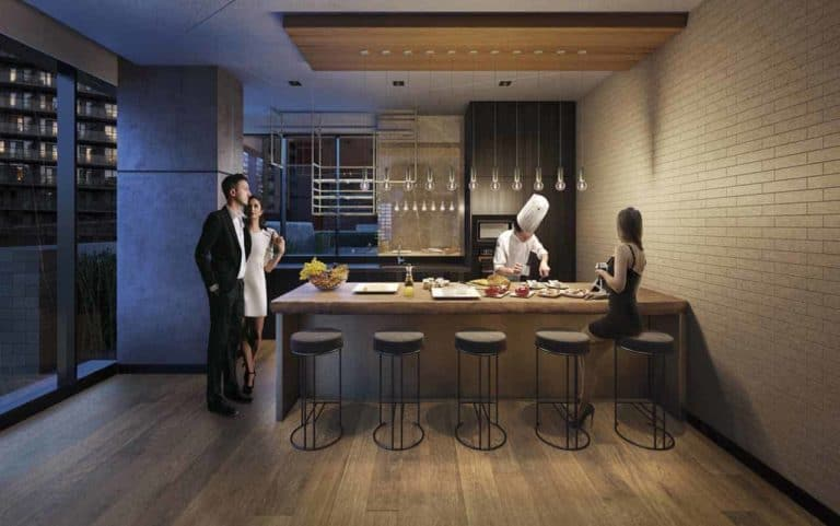events room chef kitchen the maverick condos in toronto