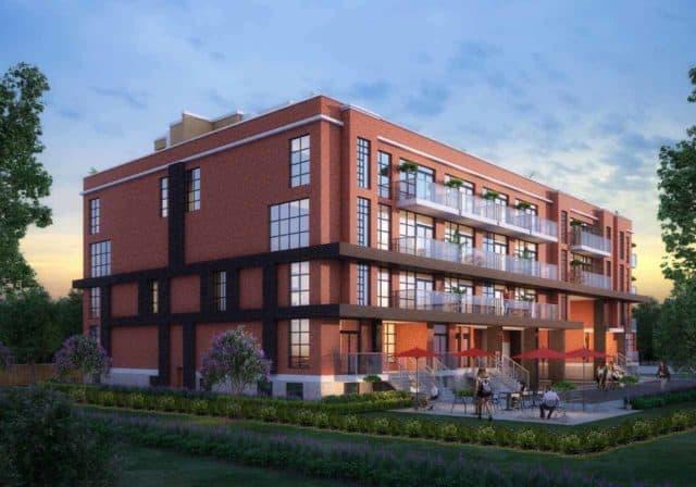 exterior building ground level elevate condos toronto