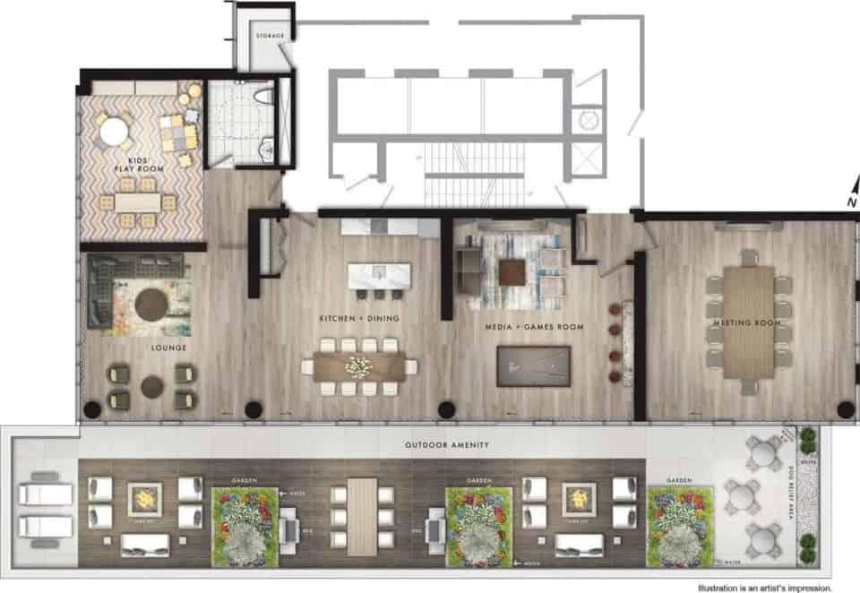 floor plan garden district preconstruction condo in toronto