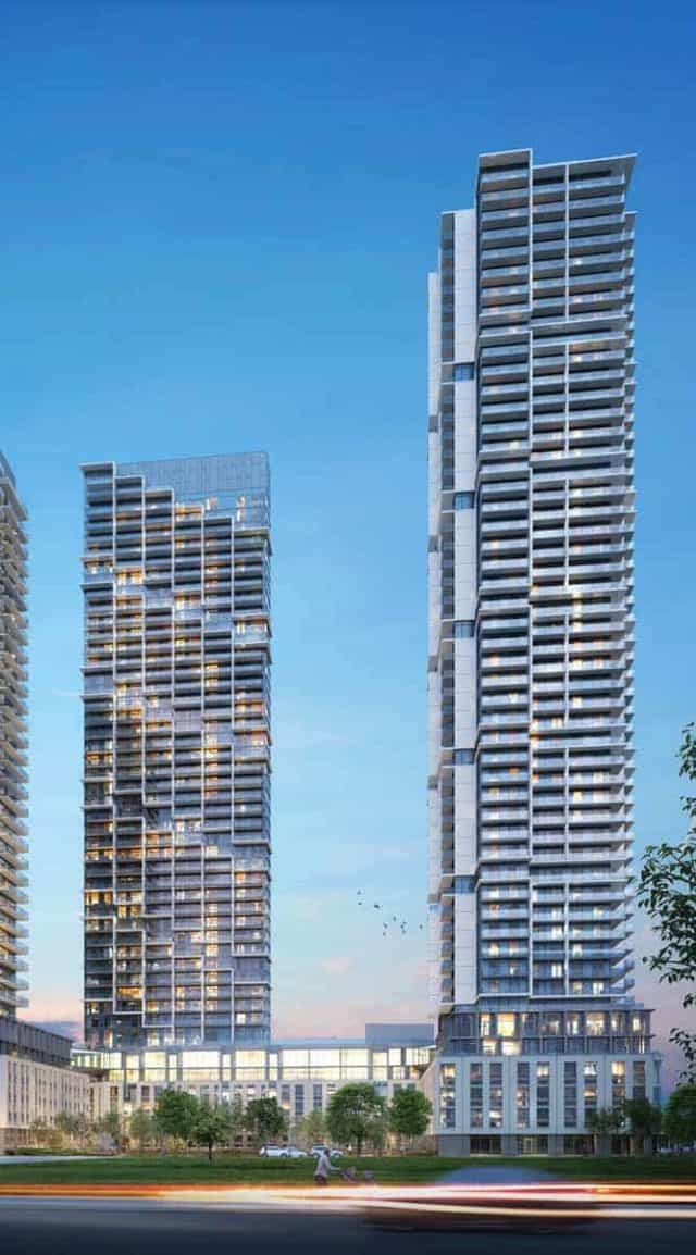 full length building shot transit city condos