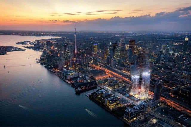 helicopter view lakeside pe construction condos in toronto