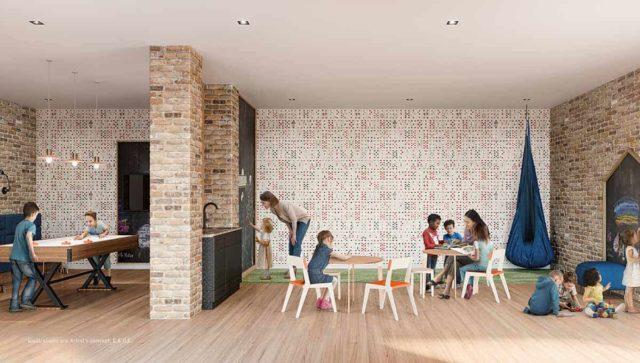 kids play room stockyards district condos