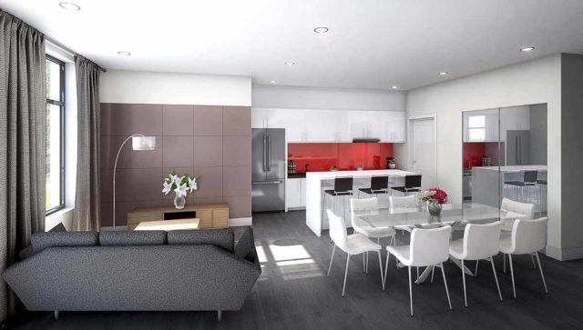 living area 9560 islington condos