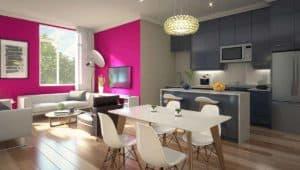 living area stride condos toronto
