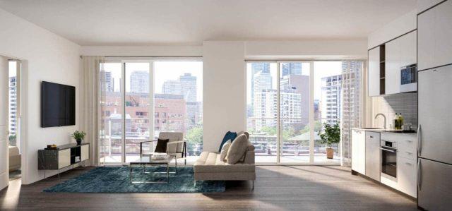 living room 543 richmond condos preconstruction