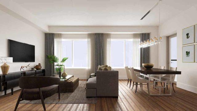 living room evermore condos