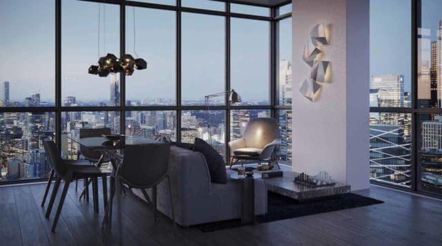 living room interior suite the maverick condos in toronto
