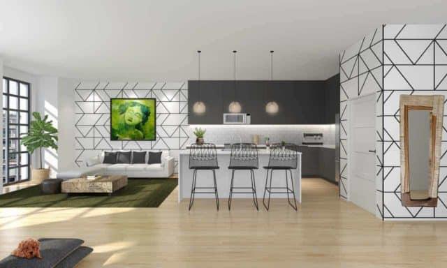 living room kitchen elevate condos toronto