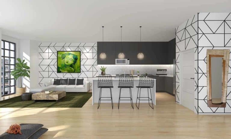living room kitchen elevate condos toronto