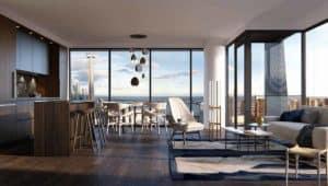 living room nobu residences