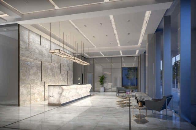 lobby 543 richmond condos preconstruction