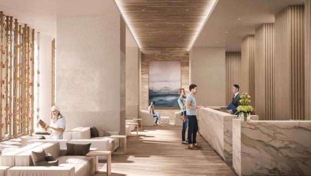 lobby sugar wharf condos