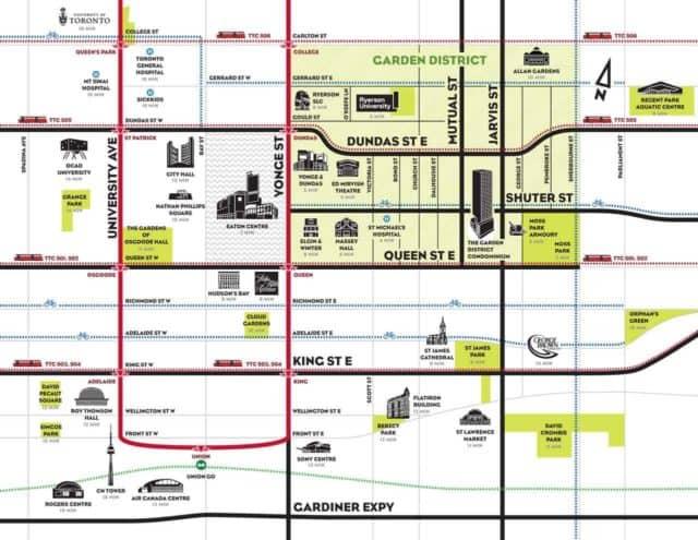 map garden district in toronto