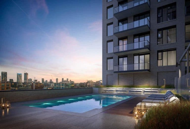 outdoor pool 543 richmond condos preconstruction