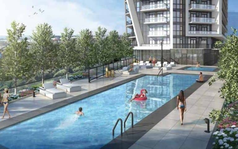 outdoor pool garrison point playground preconstruction condo