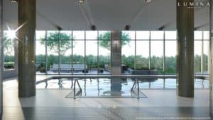 pool entrance lumina market condos
