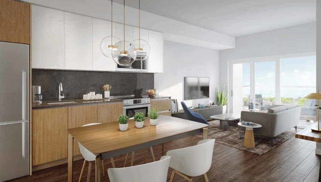 suite interior keeley condos downsview