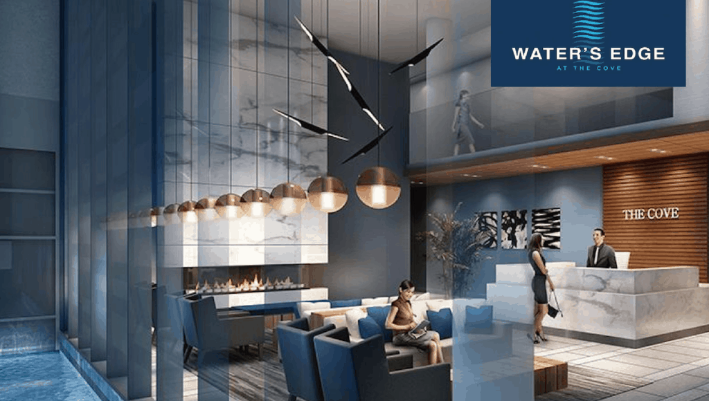 waters edge at the cove feature