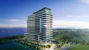 west arial view waters edge cove condos