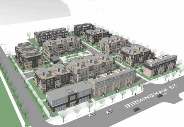 Ariel View of Proposed Townhouse with the View of Birmingham St