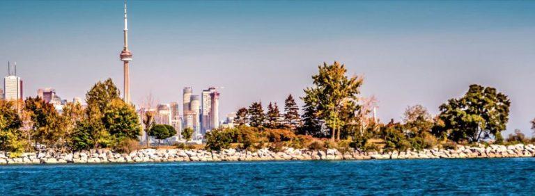 lake and town Toronto