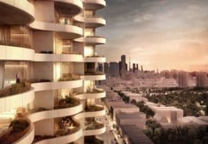 the clair residences rendered balcony exterior