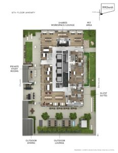 199 Church Level 5 Amenity Flat Plan