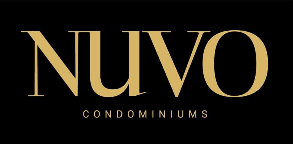 NUVO logo gold on Black