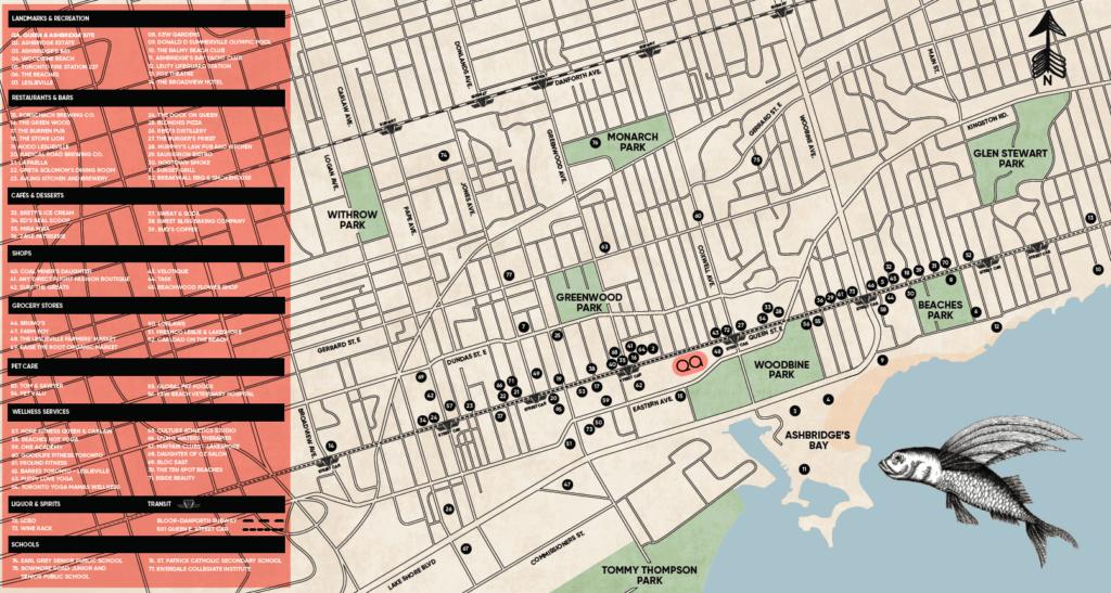 QA Condos map of area