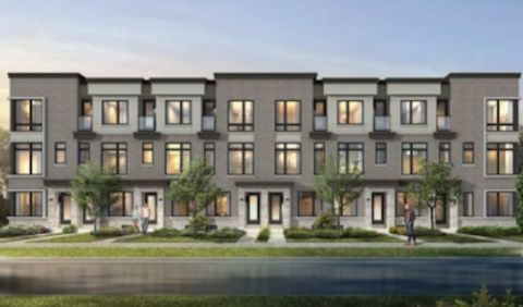 MILA by Madison Townhomes Front Exterior Rendering