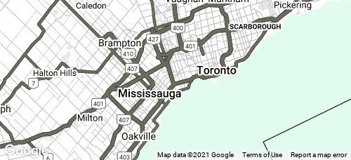 greater toronto area map small