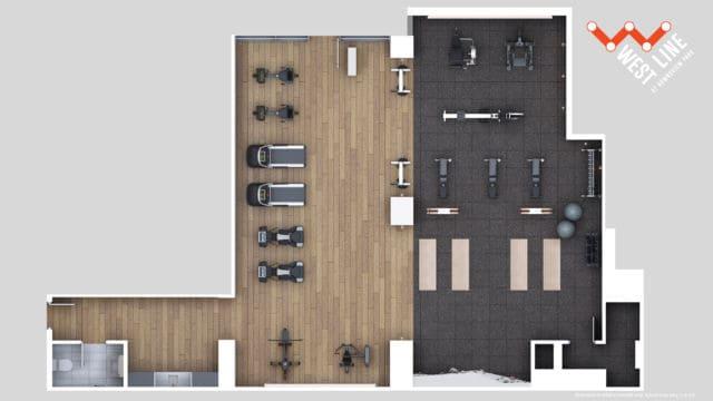 WestLine Condos 2D Amenity Flatplan Fitness Centre