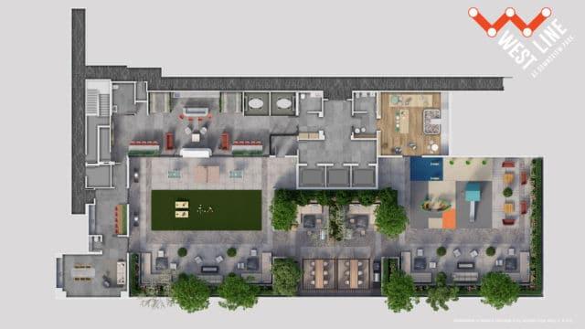 WestLine Condos 2D Amenity Flatplan Rooftop