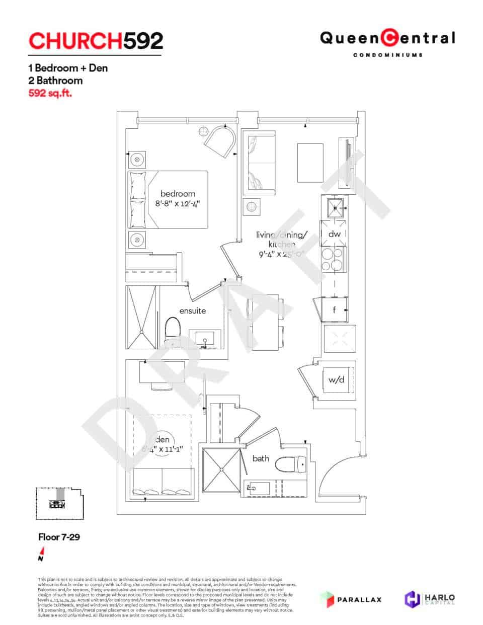 Queen Central Draft Floor Plans CHURCH 592