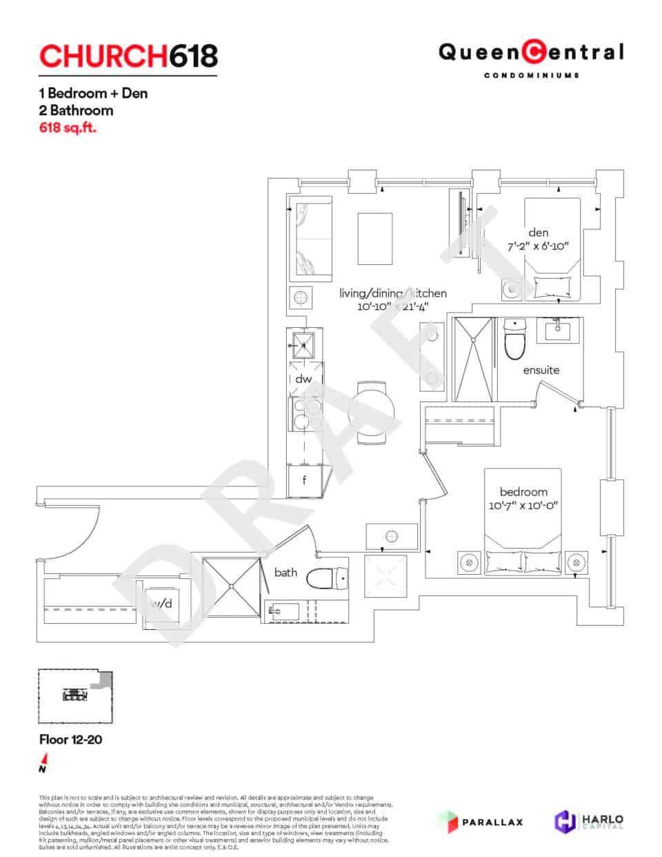 Queen Central Draft Floor Plans CHURCH 618