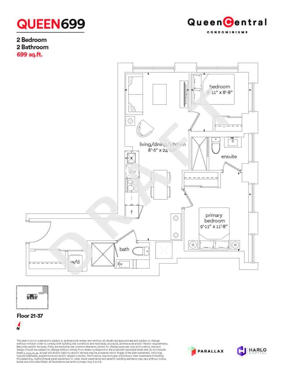 Queen Central Draft Floor Plans QUEEN 699
