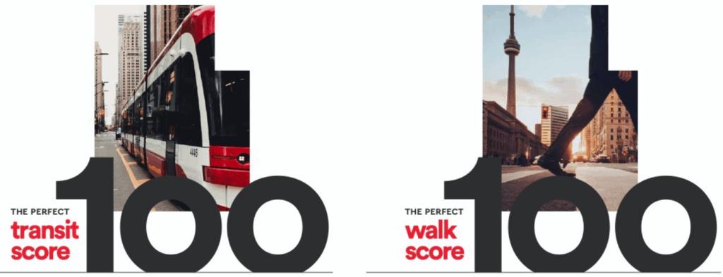 Queen Central walk score100