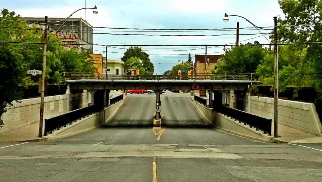 dovercourt road bridge underpass