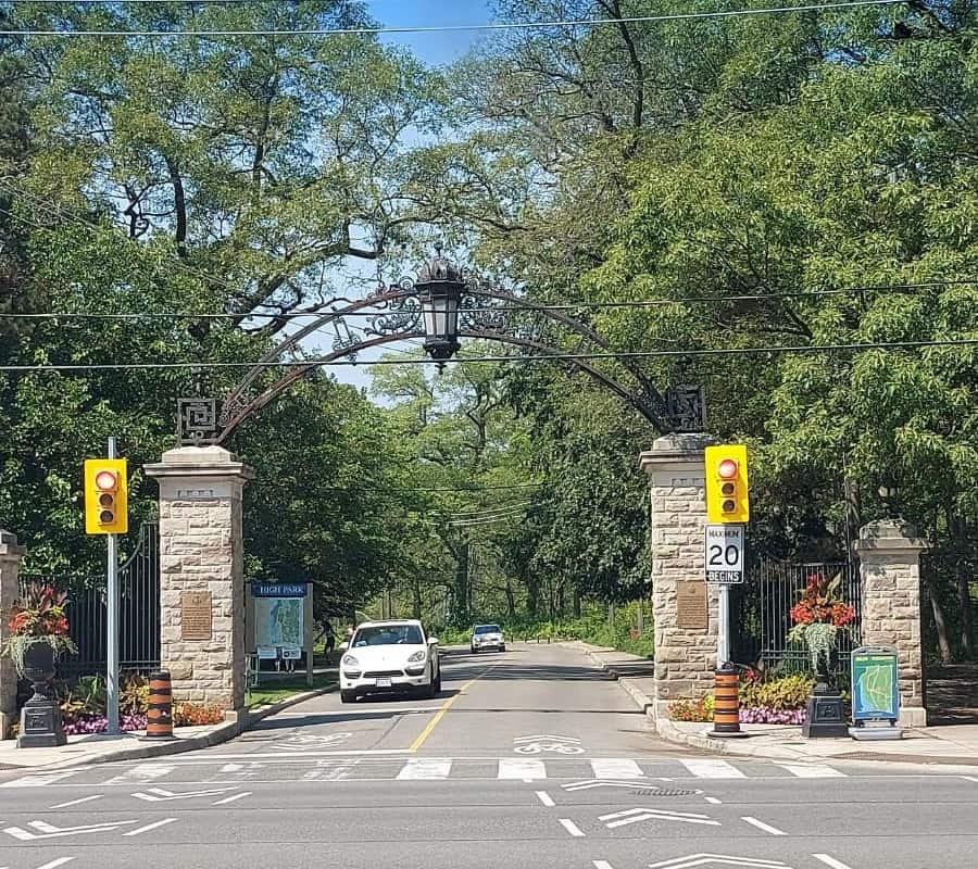 high park entrance on bloor street