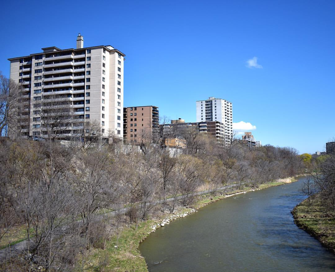 humber river with view of high rise apartments
