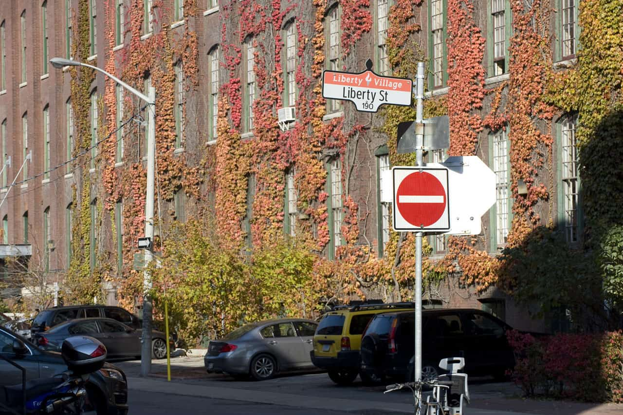 liberty village warehouse at corner of liberty street and mowat ave