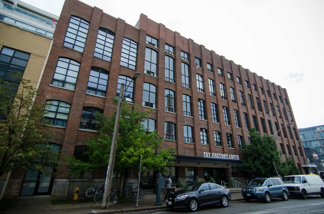 toy factory lofts in toronto