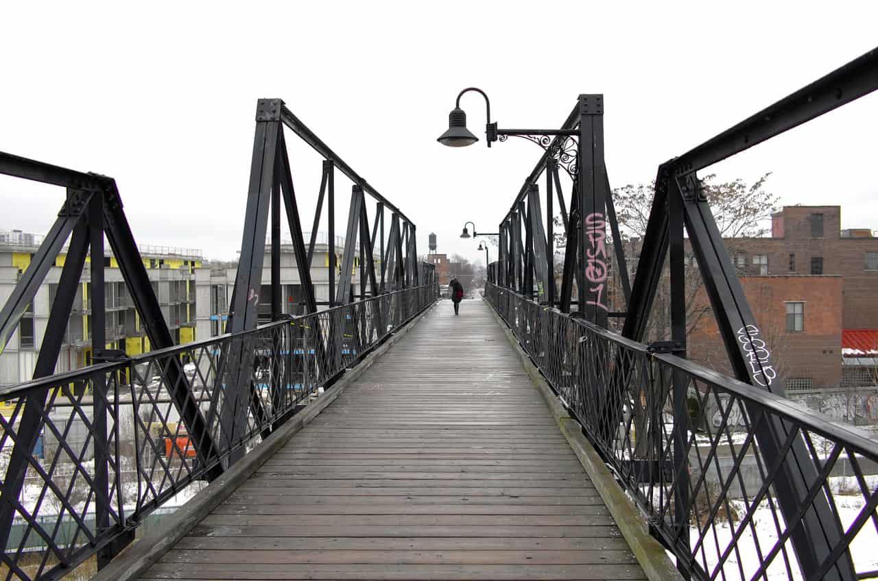 wallace avenue bridge in junction triangle toronto