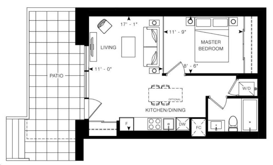 Arte Condos Caravaggio floorplan v15 full