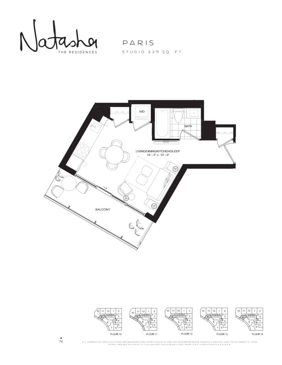 natasha residences paris floorplan